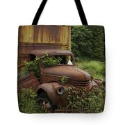 Old Truck In Rain Forest  Tote Bag