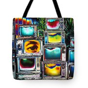 Old Tv's Abstract Tote Bag