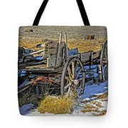 Old Wagon At Bodie Ghost Town Tote Bag