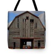 Old Wagon Older Barn Panoramic Stitch Tote Bag
