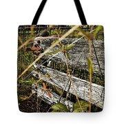 Old Weathered Gate Photoart II Tote Bag