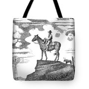 Old-west-art-cowboy Tote Bag