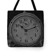 Old Westclock In Black And White Tote Bag
