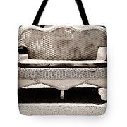 Old Wicker Loveseat Tote Bag