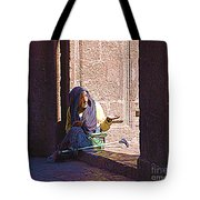 Old Woman In Centro Tote Bag