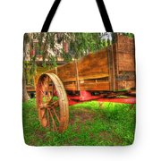 Old Wooden Cart Tote Bag