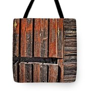 Old Wooden Wall Tote Bag
