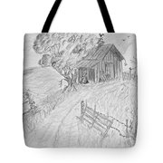 Old Woodshed II Tote Bag by Debbie Portwood