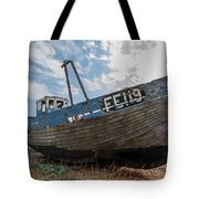 Old Wrecked Fishing Boat Tote Bag