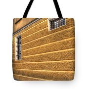 Old Yellow Building Tote Bag
