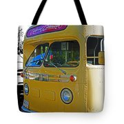 Old Yellow Transit Bus Abstract Tote Bag