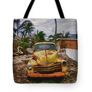 Old Yellow Truck Florida Tote Bag
