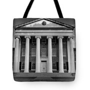 Ole Miss Lyceum Black And White Tote Bag