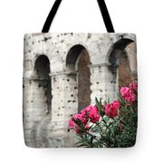 Oleander And Colosseum Tote Bag