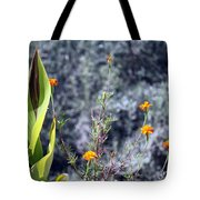 Olive Trees In The Background Tote Bag