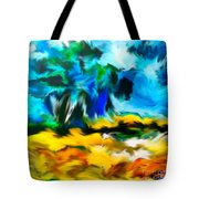 Olive Trees In The Manner Of Van Gogh Tote Bag