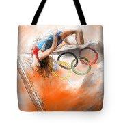 Olympics High Jump Gold Medal Ivan Ukhov Tote Bag
