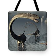 Omeisaurus Sauropod Dinosaurs Cooling Tote Bag