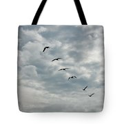 On A Mission Squared Tote Bag