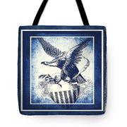 On Eagles Wings Blue Tote Bag