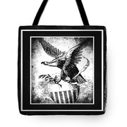 On Eagles Wings Bw Tote Bag