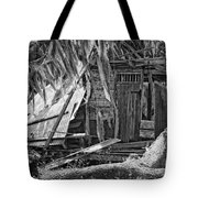 On Evergreen Platation Black And White Tote Bag