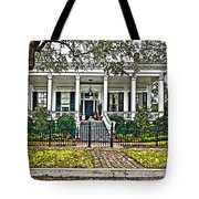 On Guard In New Orleans Painted Tote Bag