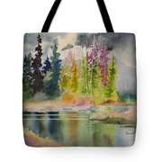 On The Colourful Pond Tote Bag
