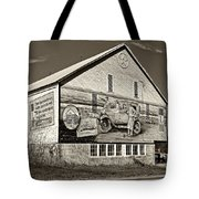 On The Lincoln Highway Sepia Tote Bag