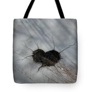 On The River. Heart In Ice 03 Tote Bag