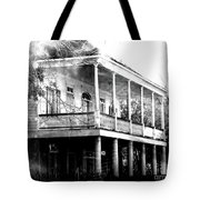 On The River Road At New Roads Tote Bag