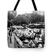 On The River Thames - Waiting For The Locks To Open - C 1902 Tote Bag