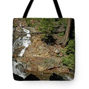 On The Rocks Glen Alpine Creek And Falls Tote Bag