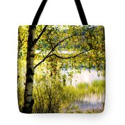 On The Shore Of The Loch Achray. Scotland Tote Bag