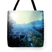 One Blue Morning Tote Bag