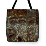 One Direction Faces Mosaic Tote Bag