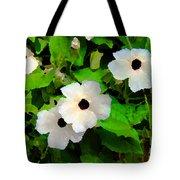 One Eye White Flower Tote Bag