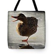 One-legged Duck Tote Bag