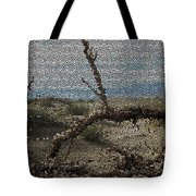 One Majastic Trunk And One Hot Desert Tote Bag
