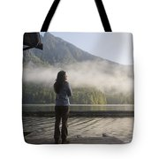 One Person, Woman, Mid Adult, 30-35 Tote Bag