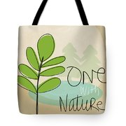One With Nature Tote Bag by Linda Woods