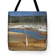 Opalescent Pool Of Yellowstone Tote Bag