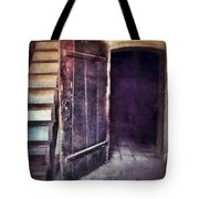 Open Door By Staircase Tote Bag