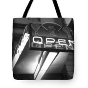 Open For Business Bw Tote Bag