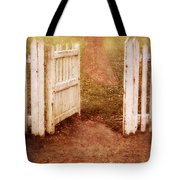 Open Gate To Cottage Tote Bag
