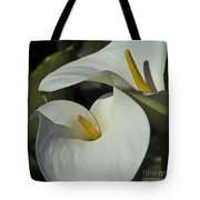Open White Calla Lily Tote Bag