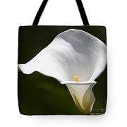 Open White Calla Lily V Tote Bag