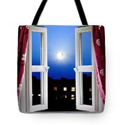 Open Window At Night Tote Bag