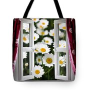 Open Windows Onto Large Daisies Tote Bag