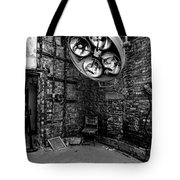 Operating Room - Eastern State Penitentiary - Black And White Tote Bag